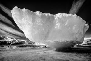 A stranded iceberg on the shore near Jokulsarlon